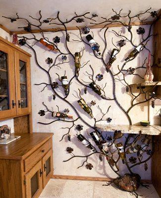 wine rack growing vine